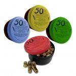 Cartouches 9 mm Blitz - Vert Jaune Bleu Rouge - par boite de 50